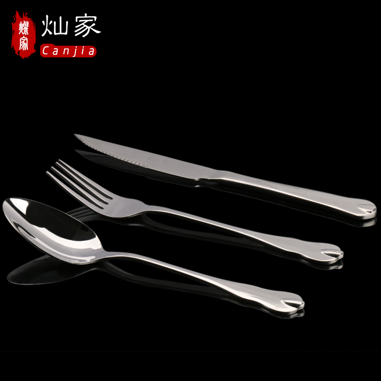 3 sets of stainless steel cutlery knife steak knife and fork spoon piece cutlery western cutlery set
