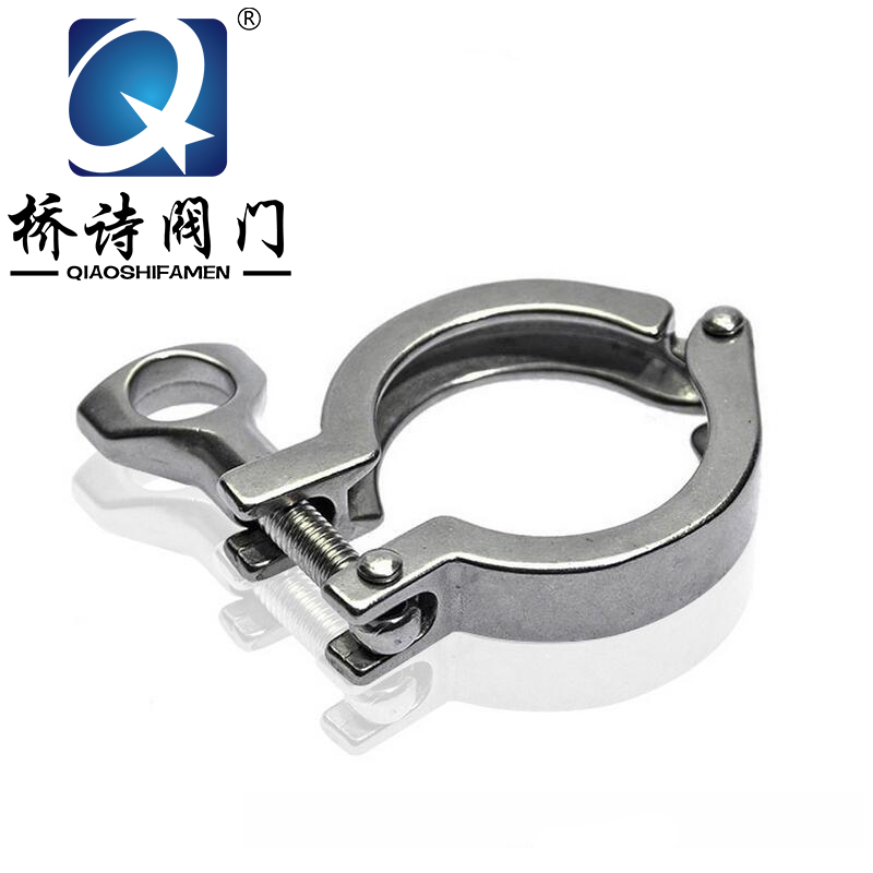 304 stainless steel sanitary quick clamp clamp casting sanitary quick connector fitting handcuffs