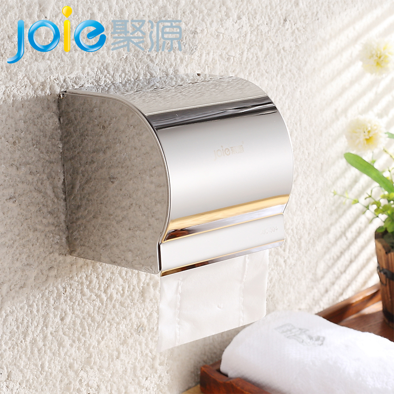 304 stainless steel toilet paper cassette toilet tissue box waterproof bathroom toilet roll carton roll holder towel rack