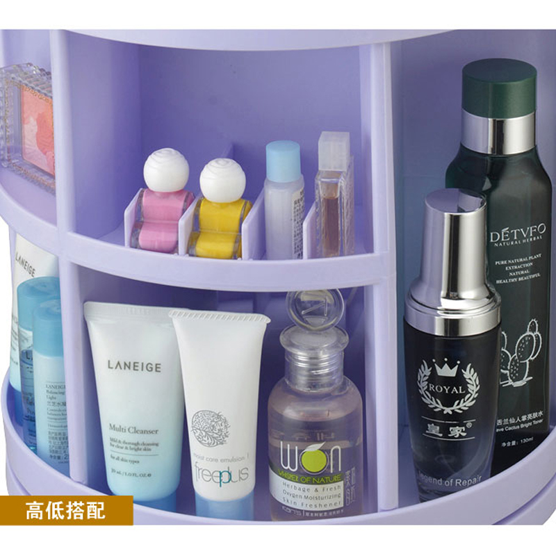 360 degree rotation cosmetic finishing the desktop storage box storage rack creative fashion multifunction box
