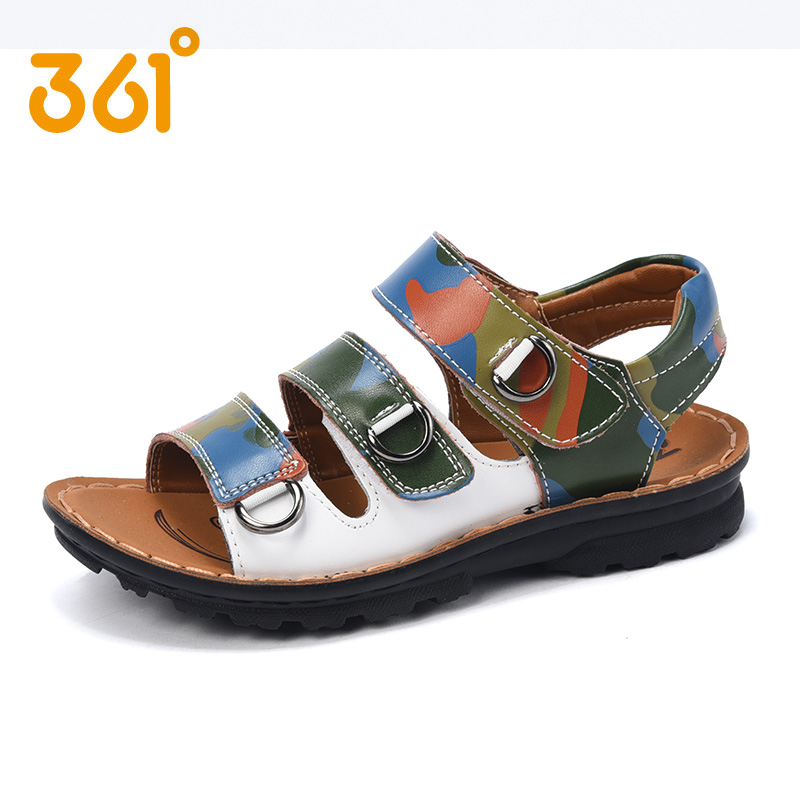 a784c52fa Get Quotations · 361 degrees genuine kids summer new boys sandals leather sandals  2016 K7624025 four