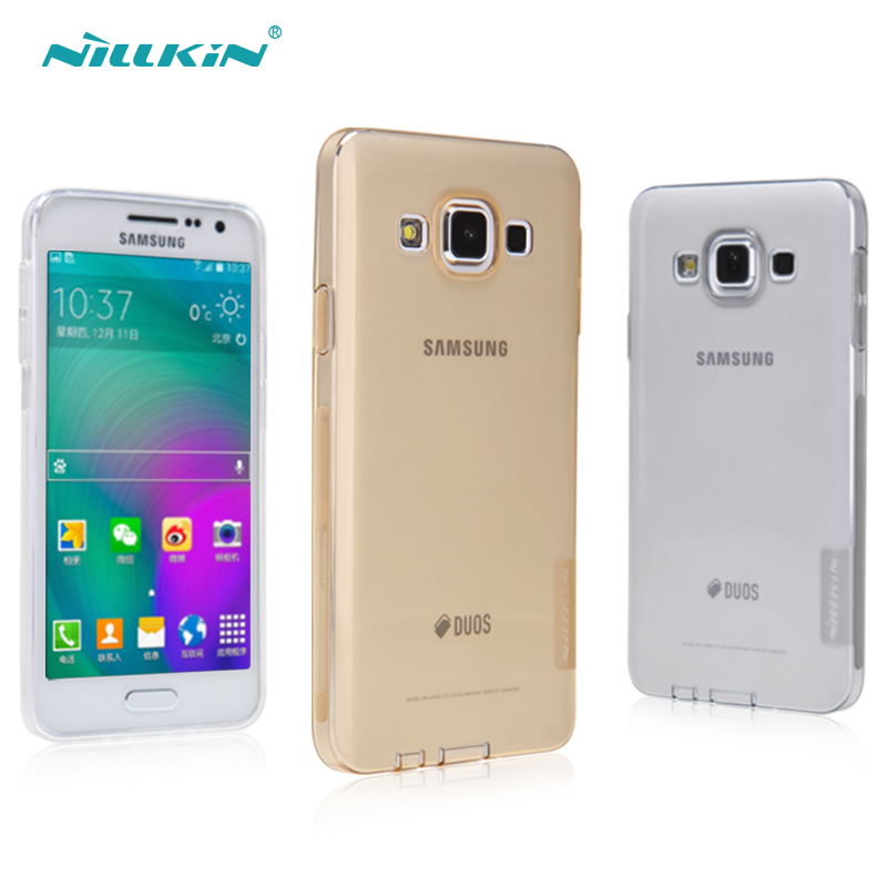 Nillkin nile gold samsung galaxy a3 a300 slim soft cover mobile phone sets transparent protective shell