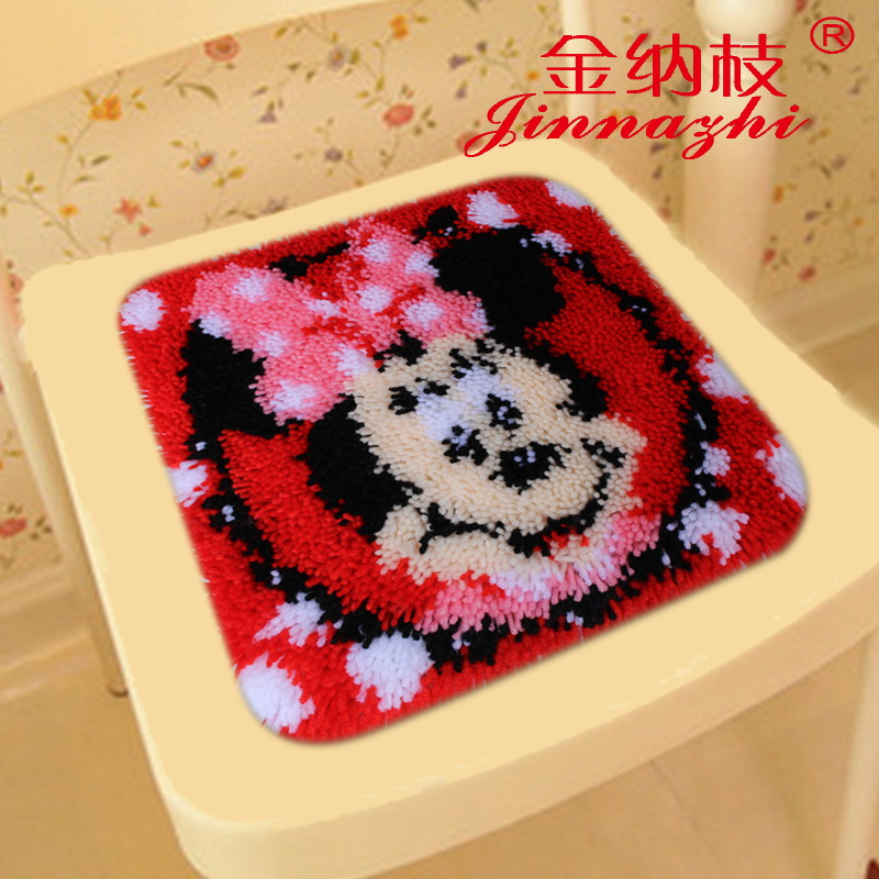 3d stitch new ginna branch wool shag line seat cushion embroidery paragraphs embroidered carpet mats cartoon student ZD635