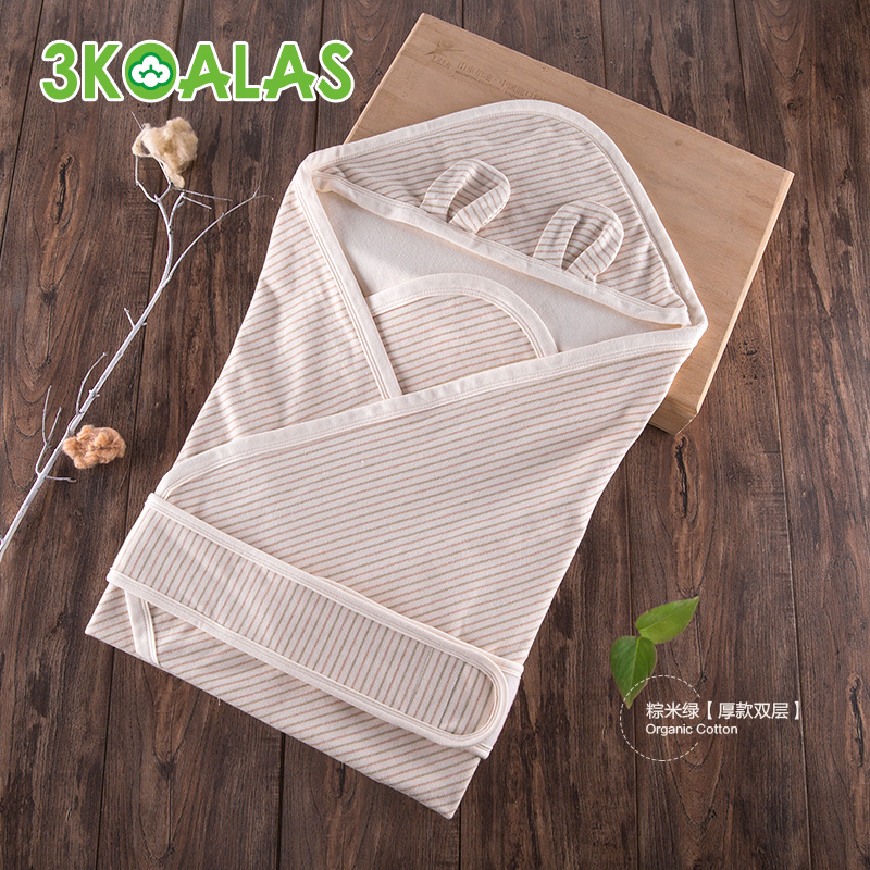 3koalas organic cotton newborn baby was newborn hold is spring and autumn and winter thickening baby infant supplies