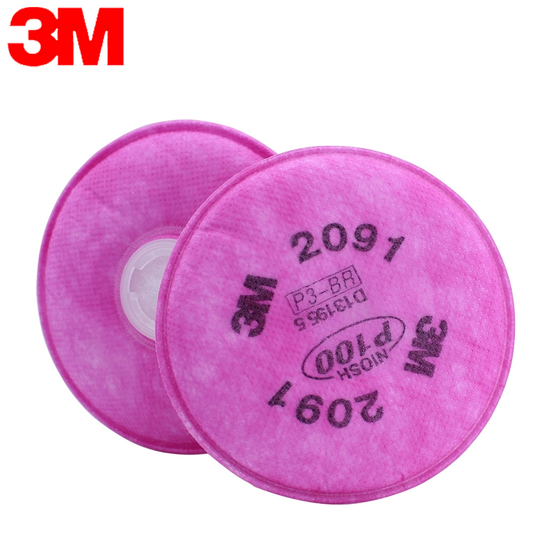 3m 2091 p100 filter cotton filter cotton dust smoke with half mask filter cotton cotton filter paper use