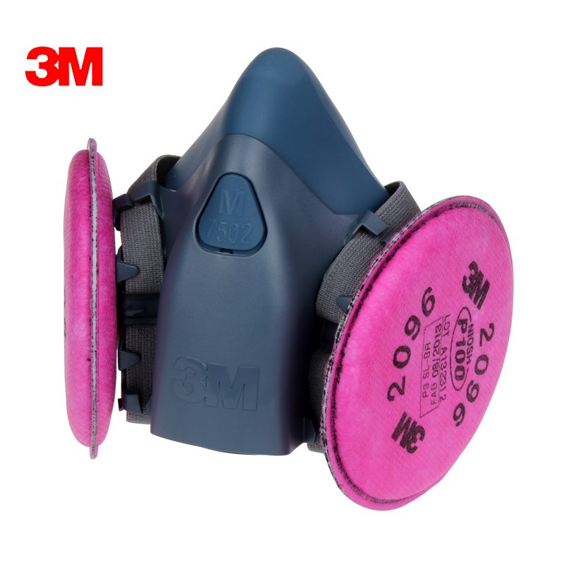 3m 7502 p100 particulate dust masks with 2096 glass fiber electrowelding acid gas odor masks