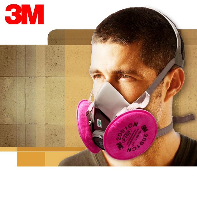 3m6200 + 2091 filtrating coal grinding industrial dust masks breathable dust masks labor protective masks