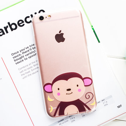 4.7 inch apple ipone6s pg6s iphone6s phone soft silicone shell protective sleeve cartoon popular brands of new female
