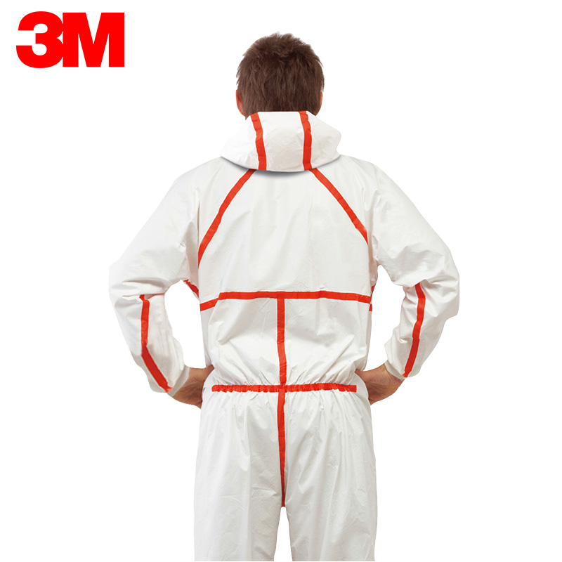 4565 red hooded 3m mrtomated siamese breathable dust protective clothing work clothes clothing anti chemical liquid splash