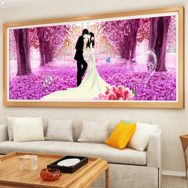 5d cube round diamond wedding ceremony to celebrate the festive series couple stitch painting full of diamond drilling new living room bedroom suite