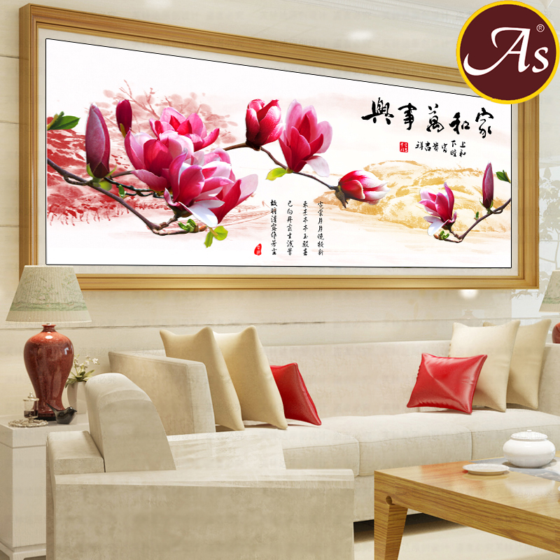 5d round diamond diamond diamond stitch family harmony magnolia painting diamond embroidery stitch new living room point diamond embroidery stick drill painting