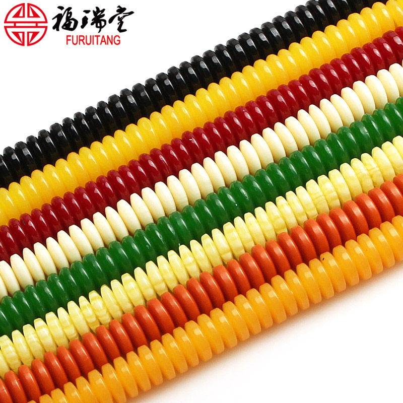 6 * 2mm black white orange green yellow colorful diamond spacer xingyue pu tizi beads diy accessories accessories