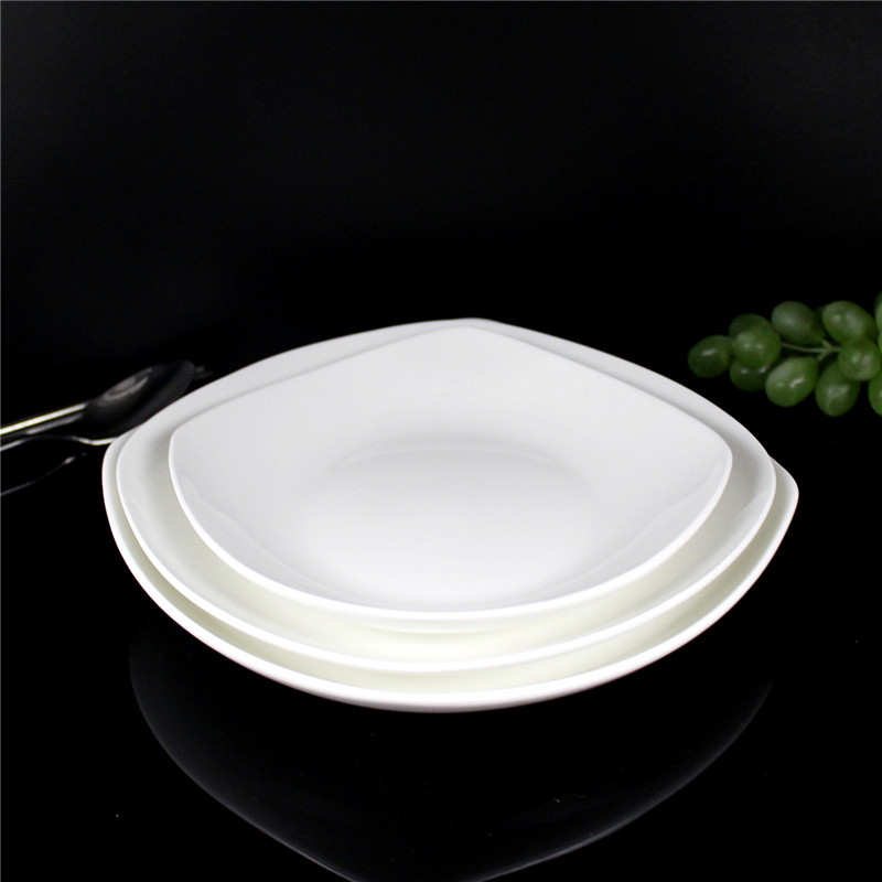 6.5 inch 7.5 inch 8.5 inch square dish soup plate of white bone china bone china square plate square plate disc super pale corners Disc