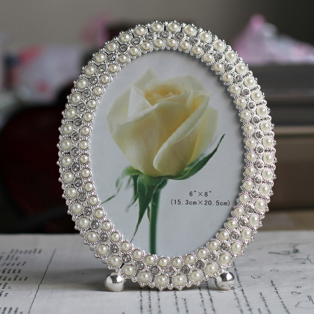 6 inch 7 inch 8 inch 10 inch metal frame diamond pearl swing sets wedding gift studio photo frame x42