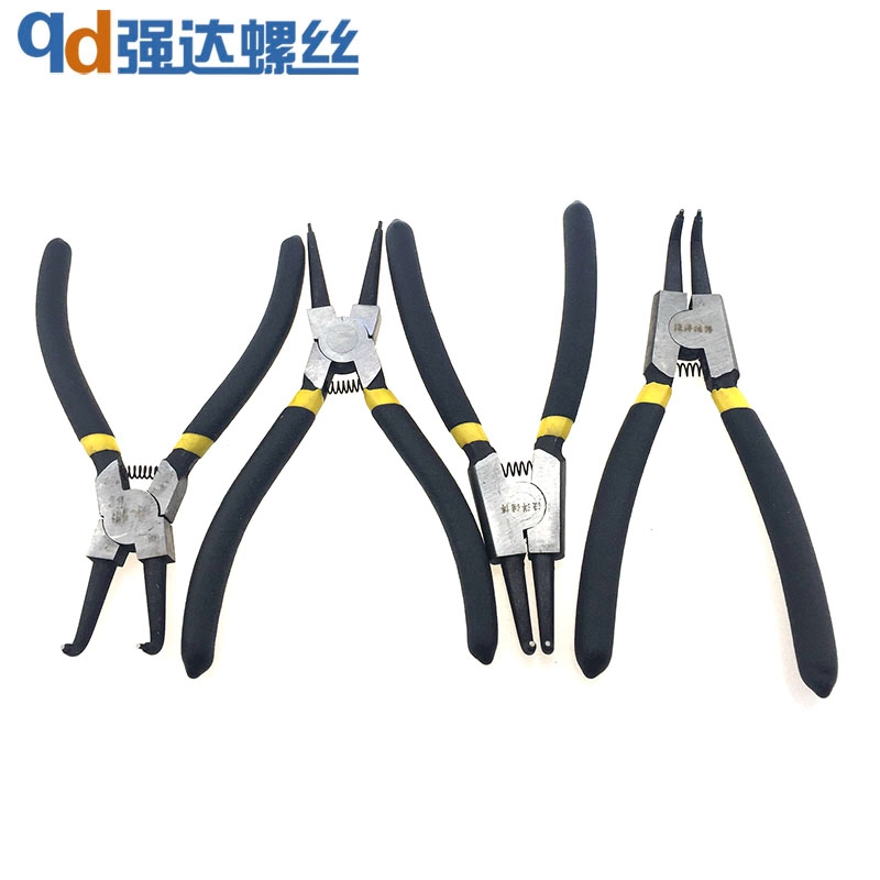 6 inch 7 inch 9 inch curved bend straight snap ring pliers snap ring clasp shrapnel holes spring clamp installation