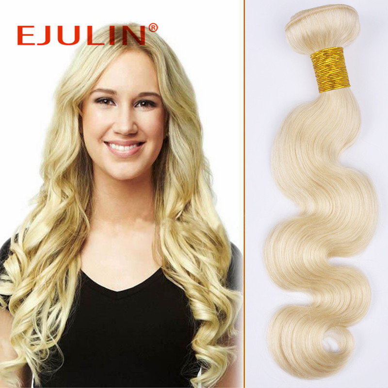 613 # peruvian virgin hair body wave light blonde extension 1