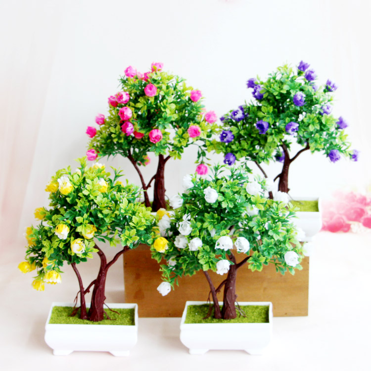 64/set of home decorations artificial flowers artificial flowers suit small potted green plants bonsai trees within the room ornaments ornaments