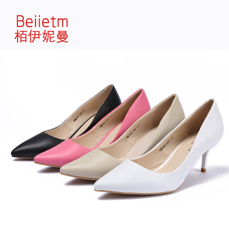 6cm autumn new high heels fine with shallow mouth soft bottom shoes work shoes wild shoes pointed shoes fashion shoes