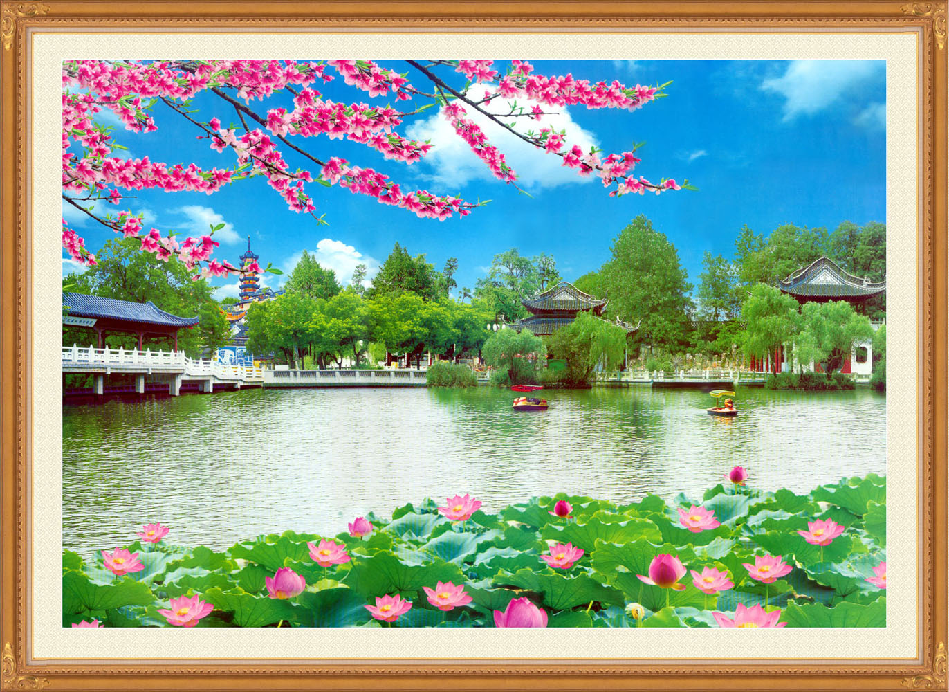 707 poster panels inkjet sticker material 343 poster printing landscape painting decorative painting