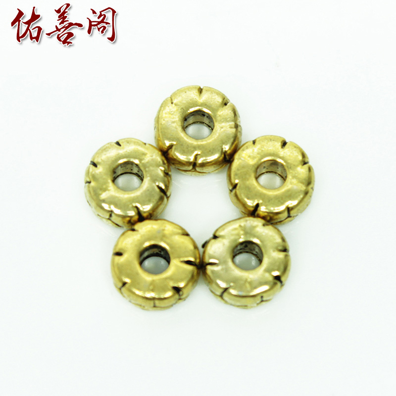 7mm old brass barrel bead spacer beads abacus beads spacer spacer loose beads diy accessories accessories tibetan prayer beads chain bracelets