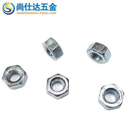 8 galvanized hex nut nut galvanized high strength hex nuts hex nut white zinc nut 8 nut m2-36