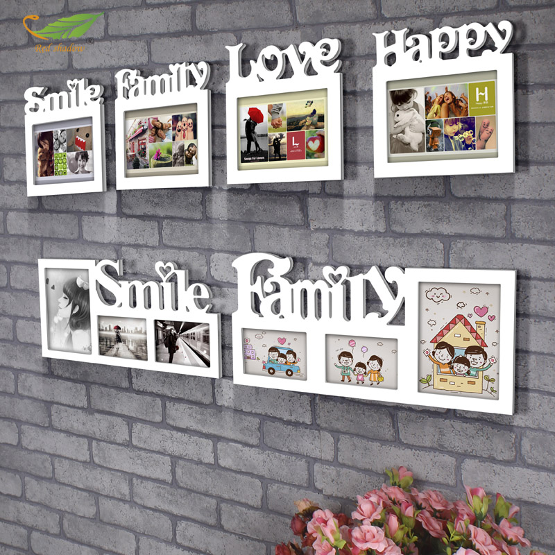 8 inch photo frame swing sets gift letter white photo frame wall creative combination photo frame swing sets minimalist now s
