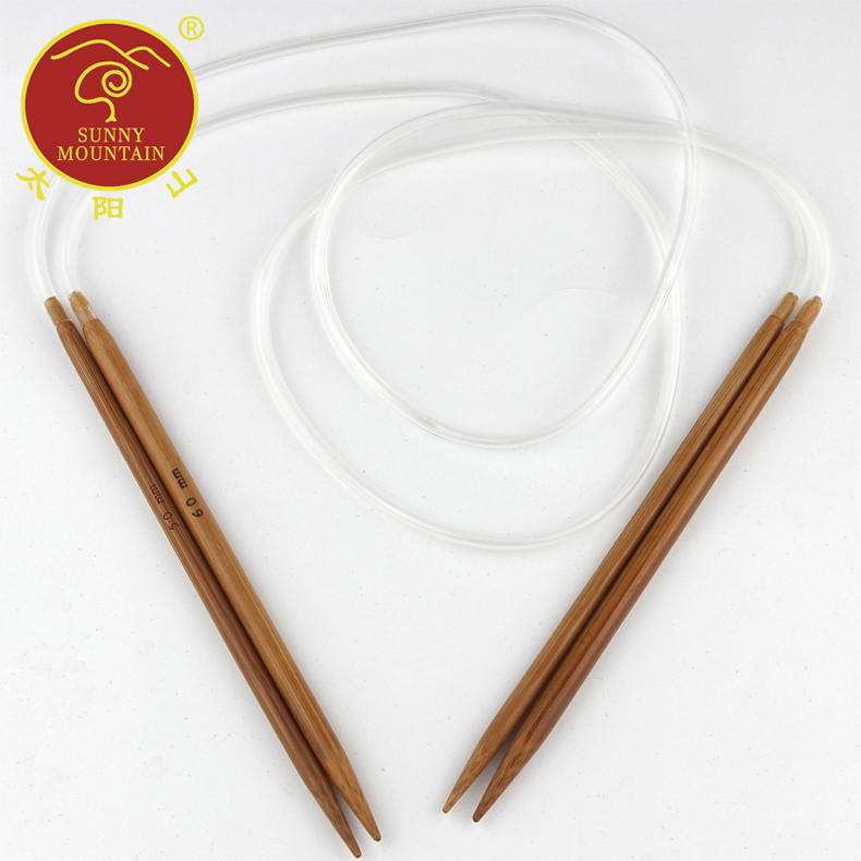 80cm long bamboo ring needle sweater knitting tool tip carbonized bamboo ring needle sweater knitting needle knitting needles needle specials