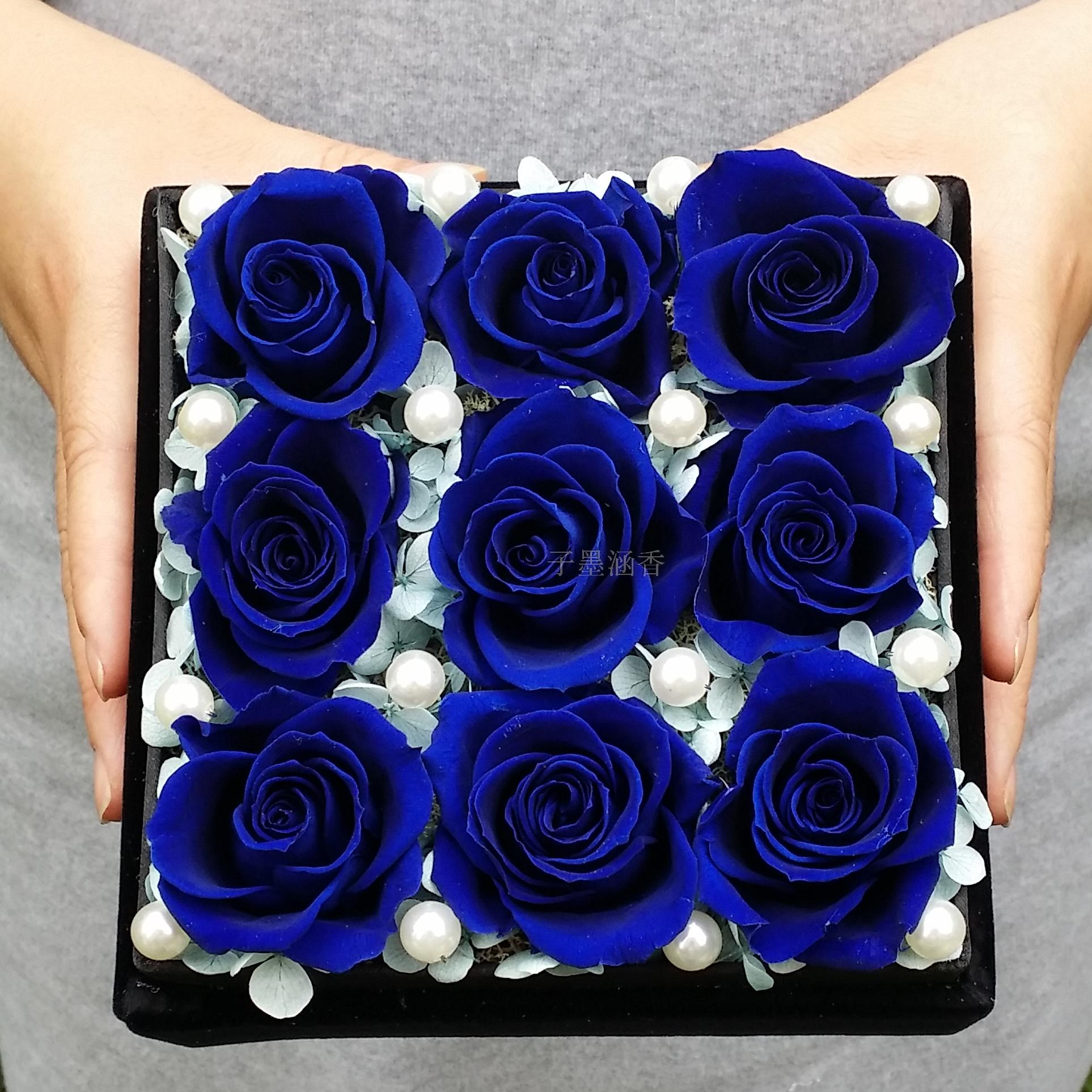 9 bluelover flower preservation imports rose preserved flower flower boxes preserved flower gift birthday bless courtship gift free shipping