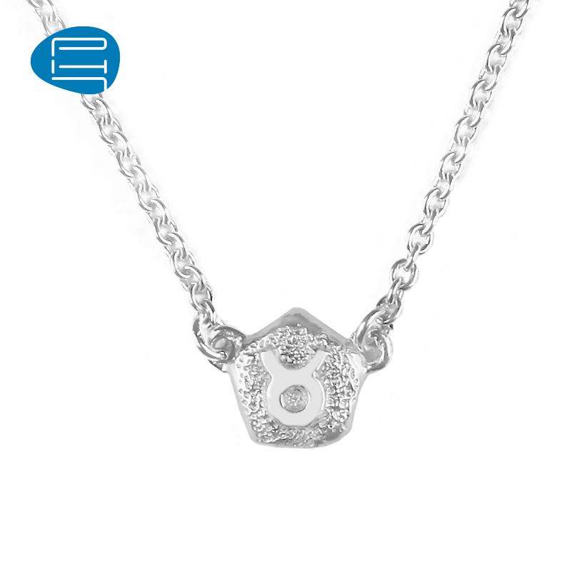 925 silver jewelry necklace female temperament simple twelve zodiac ph7 handmade pendant necklace silver necklace female lettering