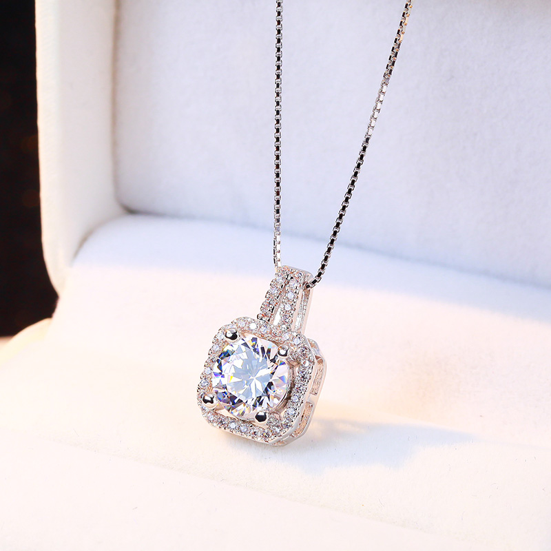 925 silver necklace female korean version of japan and south korea sweet clavicle chain pendant fashion jewelry accessories