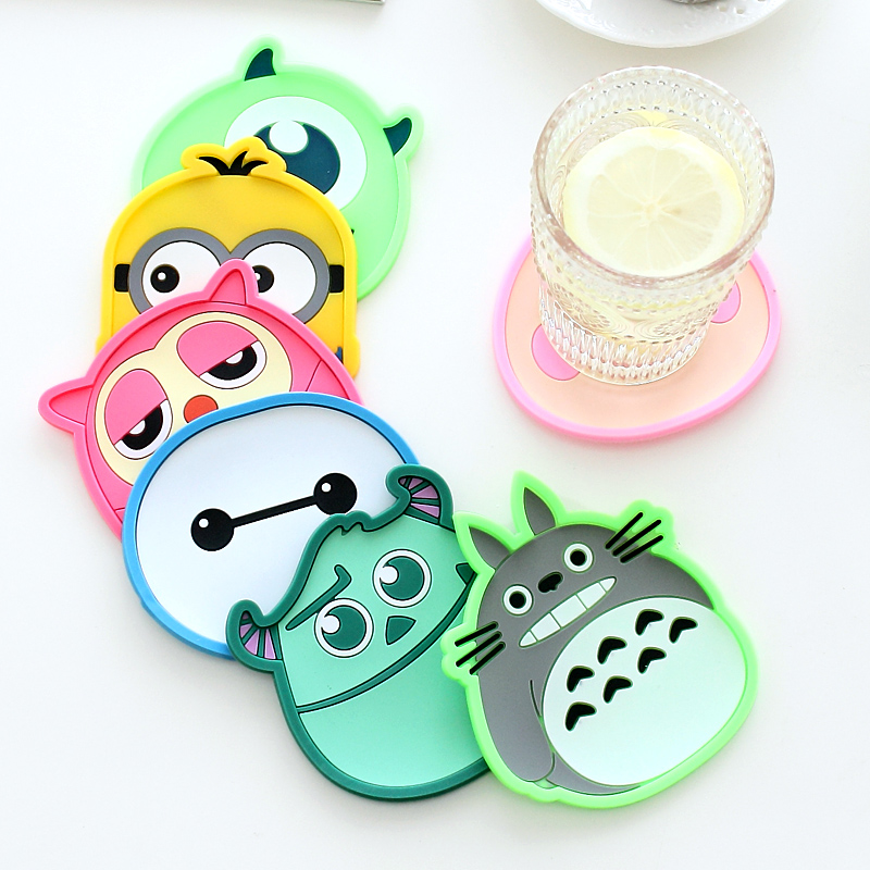 9806 stereo cute cartoon insulation pad insulation pad creative coaster silicone cup against hot cup pad mat placemat