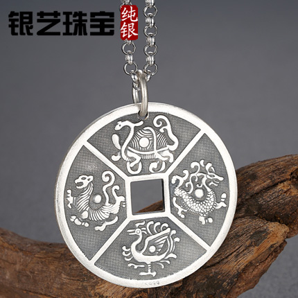 999 fine silver sterling silver pendant thai silver pendant necklace men domineering animal pendant personalized gift tide