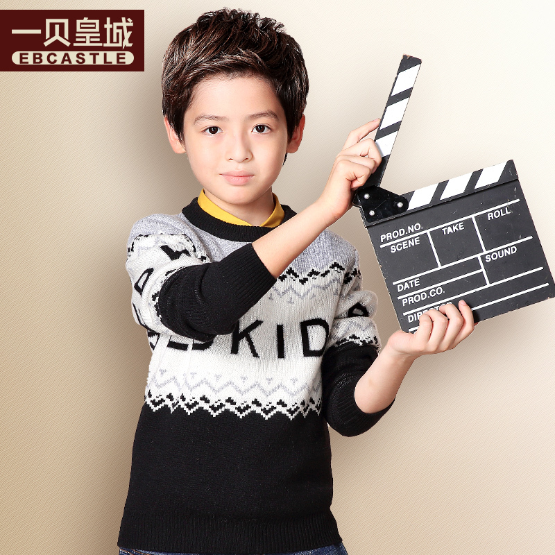 A bay imperial brand children's clothing boy sweater children hedging round neck new winter children big boy sweater tide