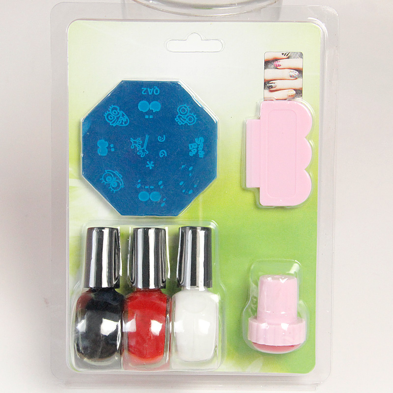 A full transfer stamp scraper random nail polish nail supplies printing plate printing template tool suite 5