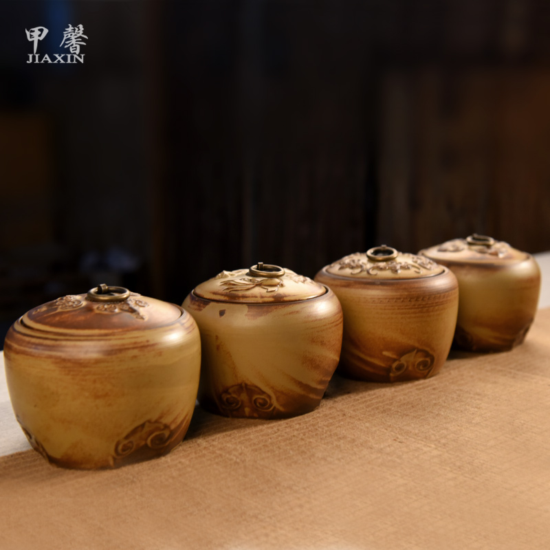 A hope kiln ceramic canisters canister canister wake chaguan pu'er tea tea tea tea pet ornaments can be a variety of The election
