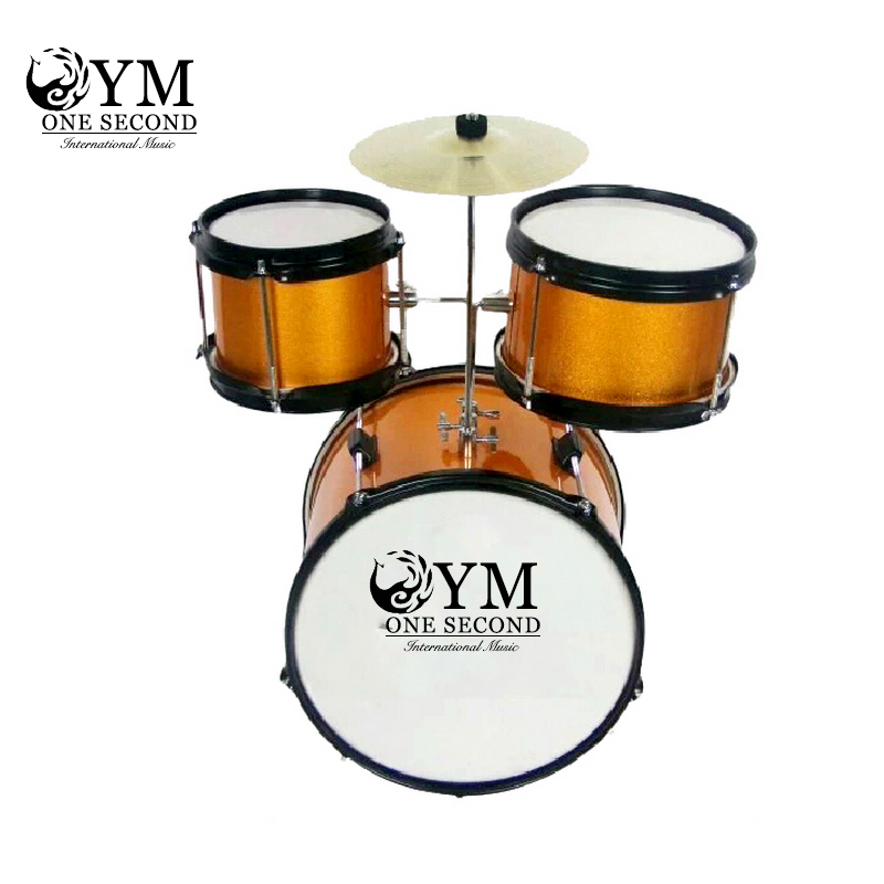 A second one second wugu two cymbal drums drums musical instruments for children beginners send drum stool
