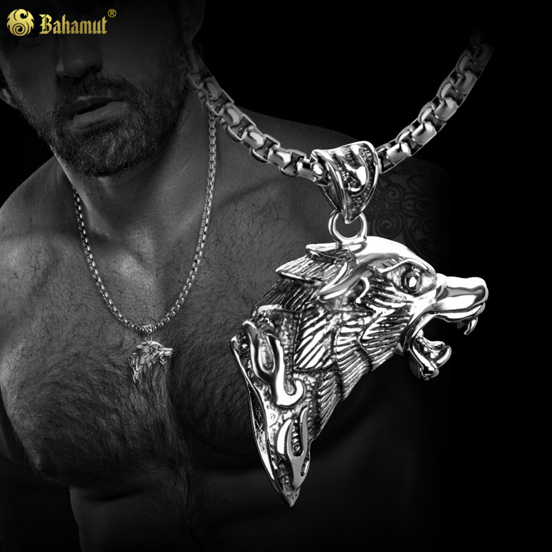 A song of ice and fire langtou domineering titanium steel jewelry for men pendant necklace pendant male male spike