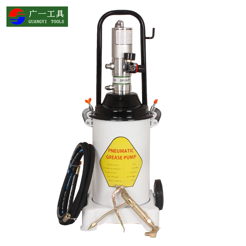 A wide 12l high pressure oiler oiler butter machine pneumatic butter machine pneumatic grease gun butter 12 liters