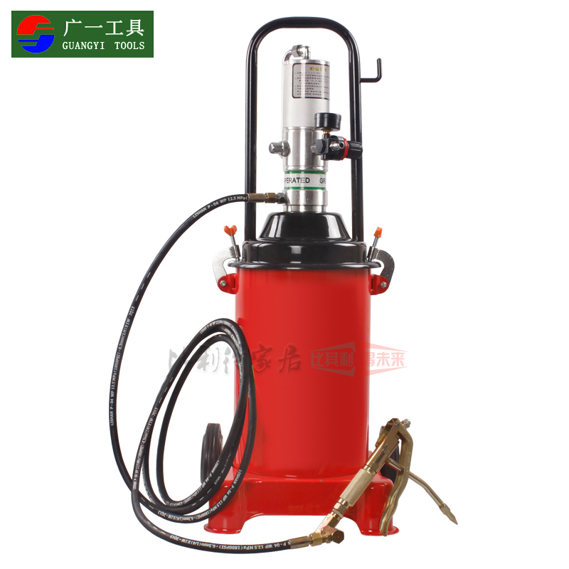 A wide pneumatic butter machine oiler 12l high pressure pneumatic grease gun grease gun grease oiling machine