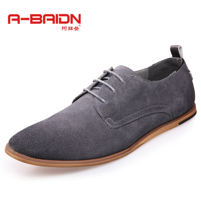 Abaidn/o biden autumn and winter matte leather breathable men's business casual leather shoes men suede leather casual shoes british lun 112