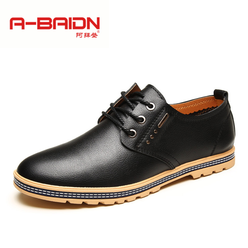 Abaidn/o biden autumn and winter men's casual shoes leather lace shoes british korean youth cowhide shoes 112