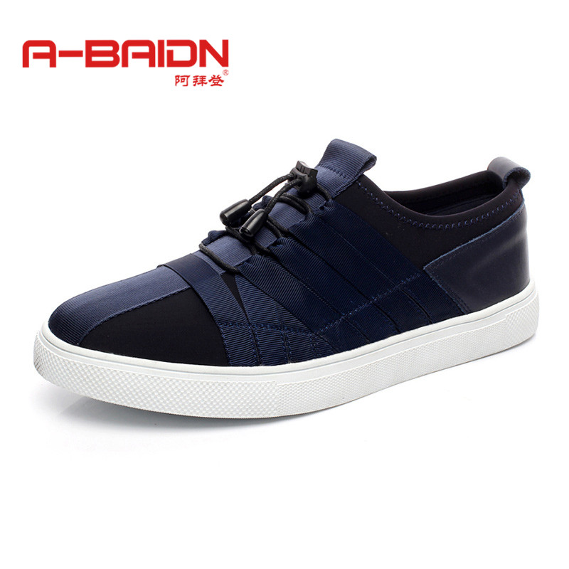 Abaidn/o biden new autumn and winter fashion elastic casual shoes loafers shoes men lazy shoes casual shoes 1