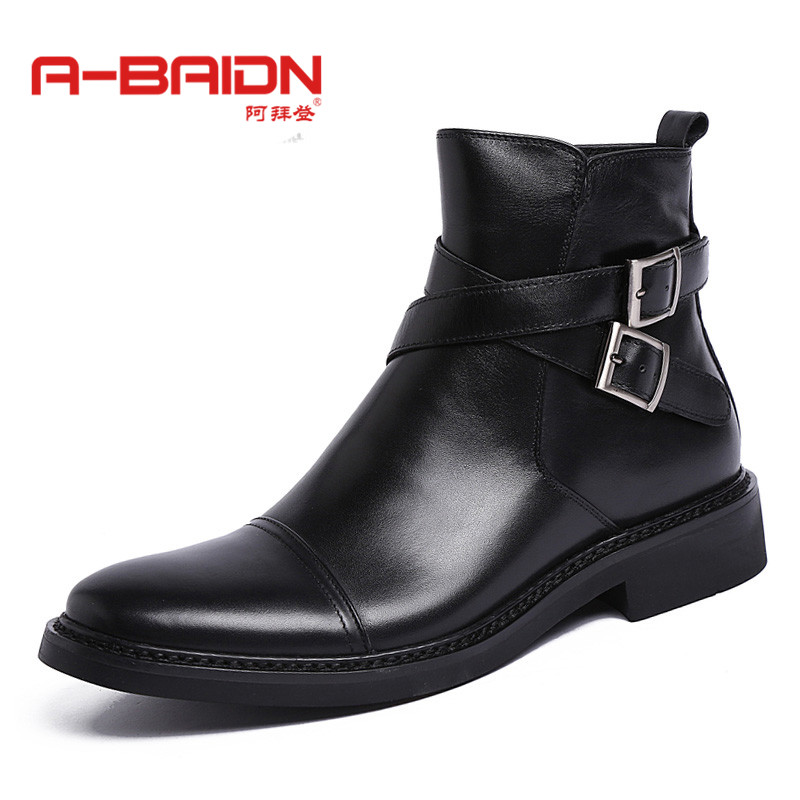 Abaidn/o biden new autumn and winter high to help british fashion casual shoes cowhide leather men set foot shoes 921