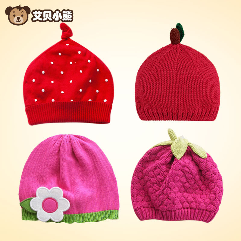 3752f668aa6 Get Quotations · Abe bear newborn baby hat in autumn and winter 0--6 years  old boys