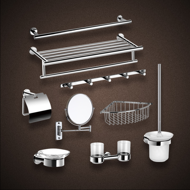 Get Quotations Ac Silver Crystal Platen Double Towel Bar Rack Shelf Toilet Paper Holder