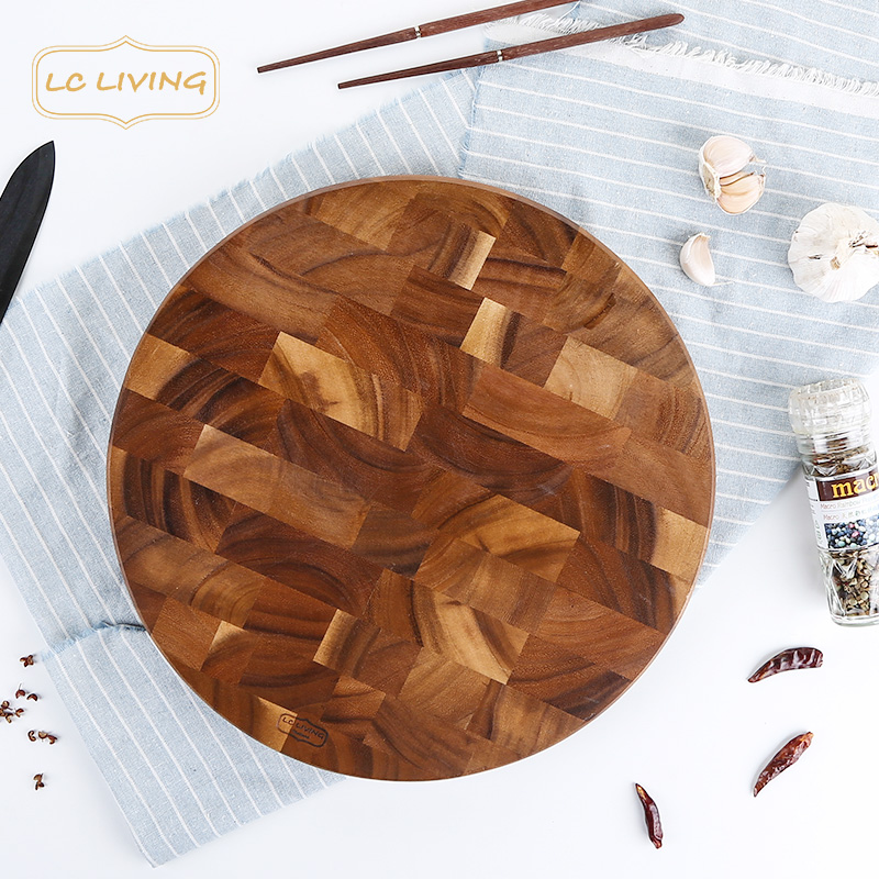 Acacia wood lcliving thailand imported kitchen cutting board chopping fruit chopping chopping board cutting board ganmian