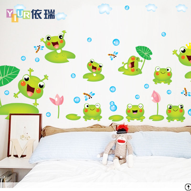 According to swiss wall stickers cartoon sticker decal stickers bedroom living room children's room decor nursery frog prince