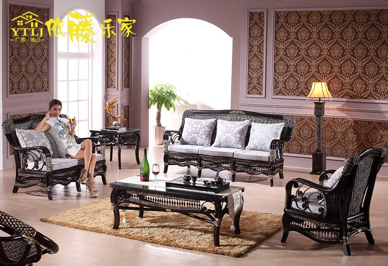 According to the cane roca trio living room sofa combination of indoor wicker chair really casual rattan sofa rattan sofa wujiantao