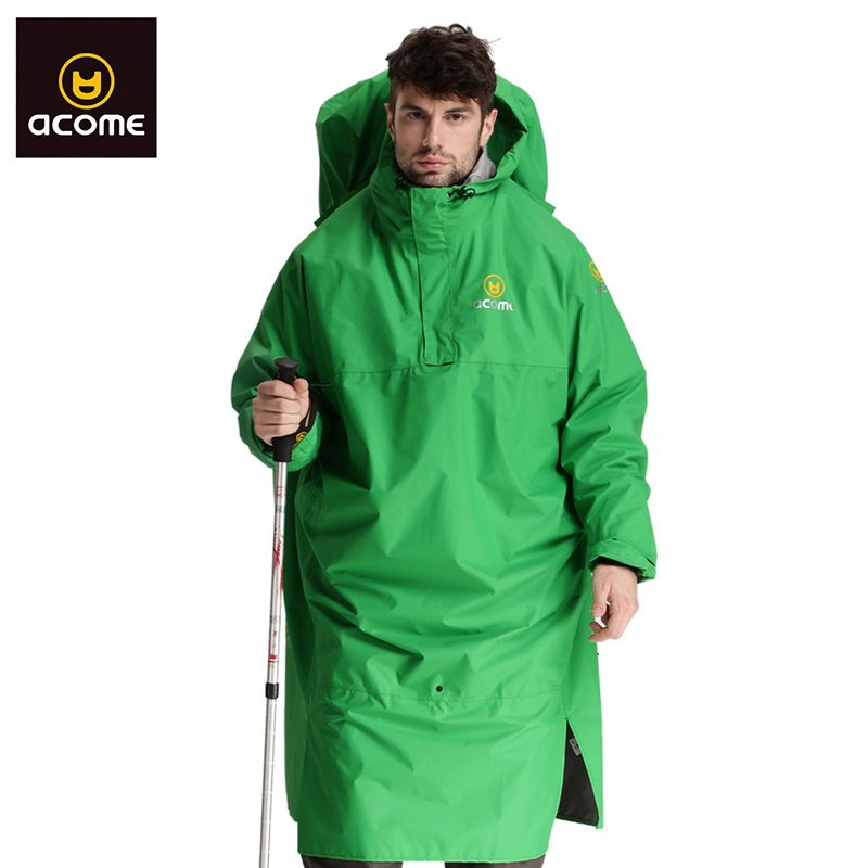 Acome/acme outdoor climbing raincoat raincoat riding hiking camping camping waterproof raincoat long section