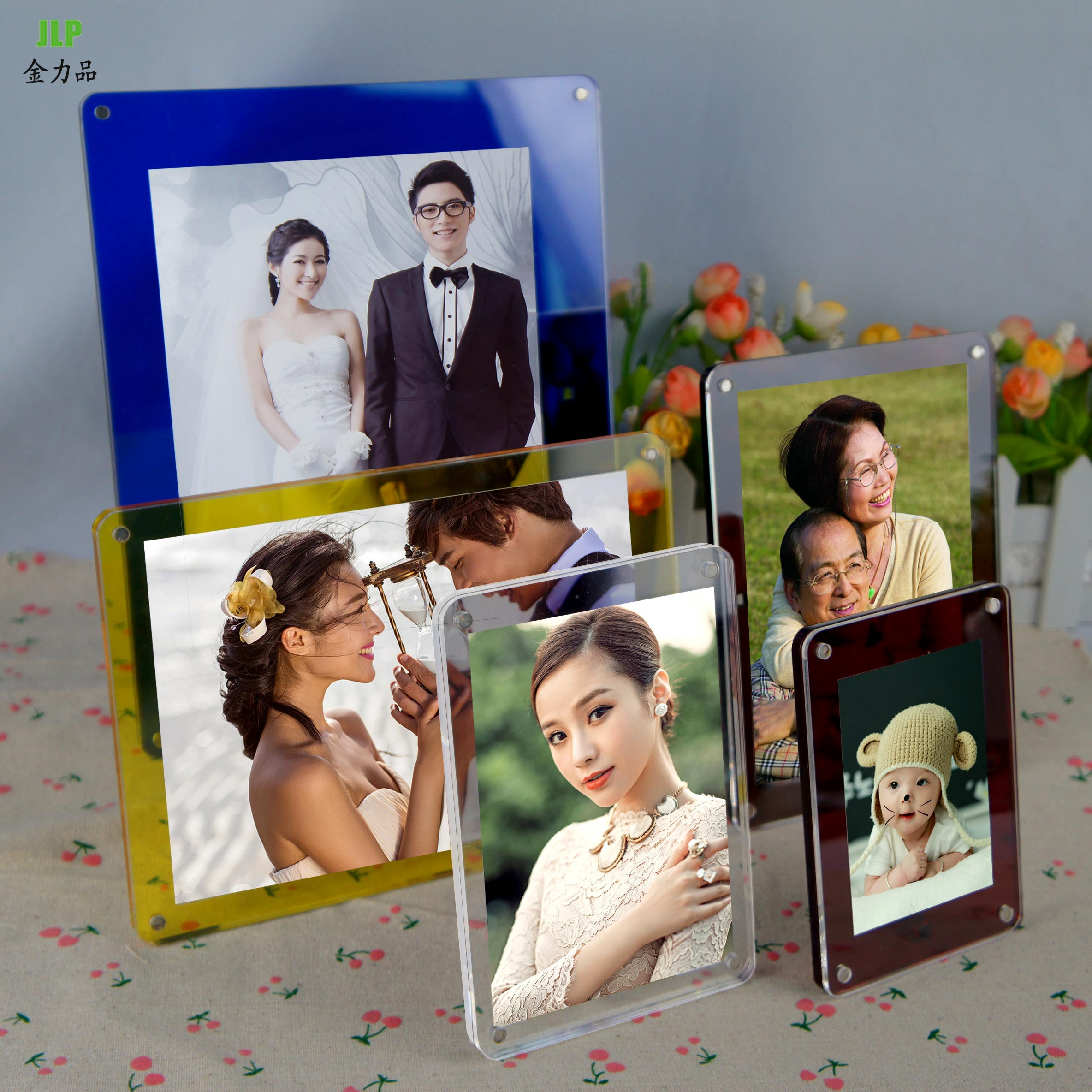 Acrylic photo frame swing sets 5 inch 6 inch 7 inch 8 inch 10 inch frame creative crystal photo frame home studio